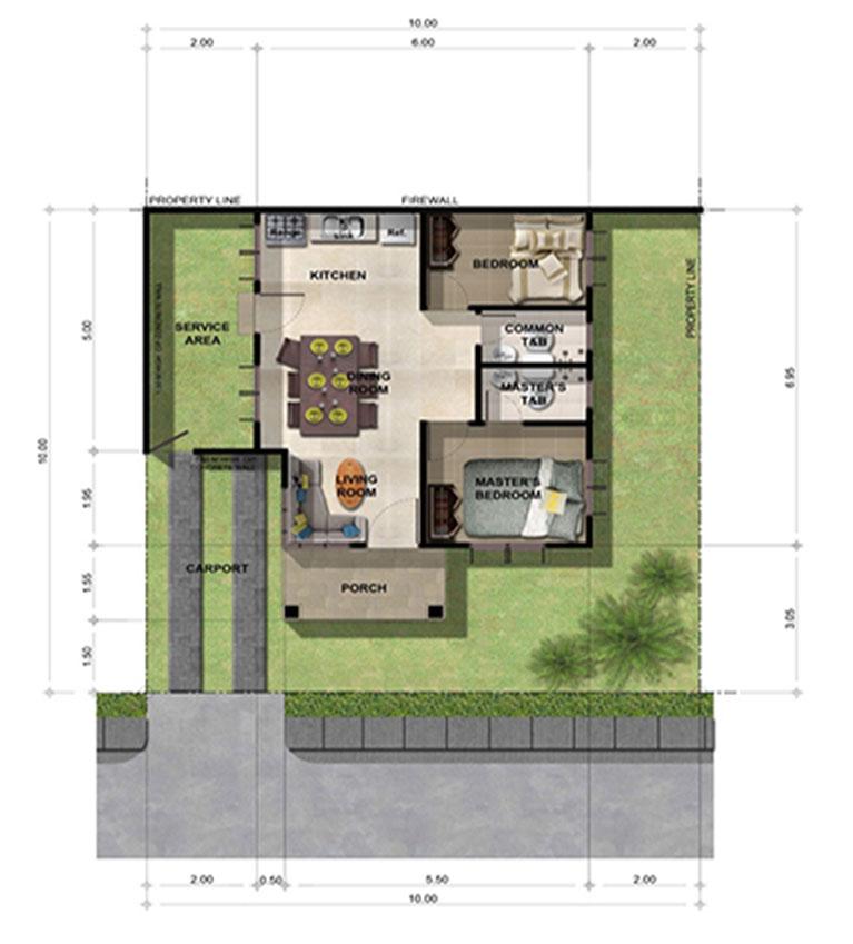 Narra Bongalow Floor Plan
