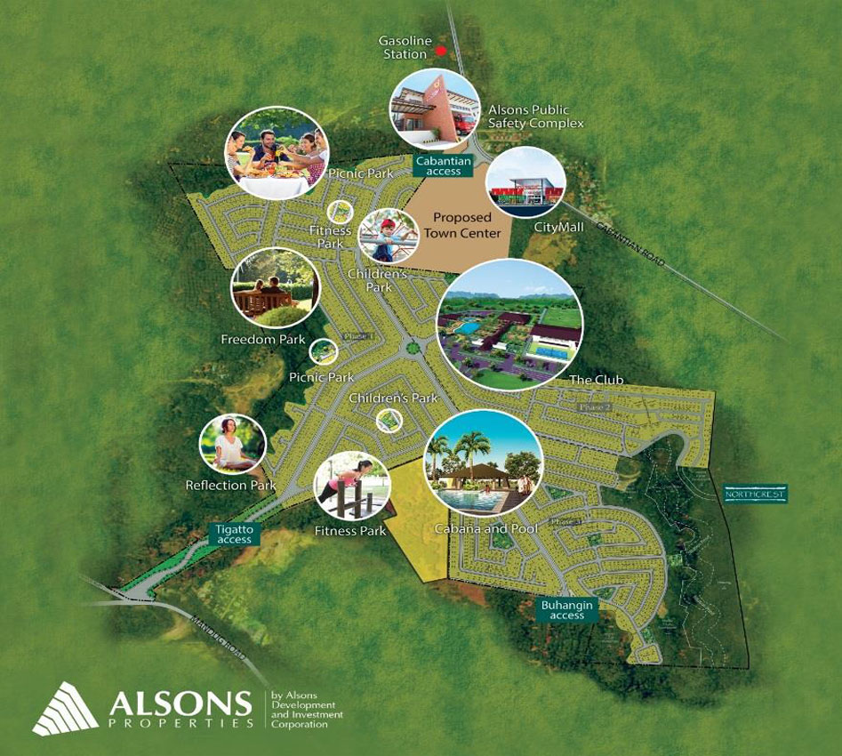 Alsons Properties-North Town Map