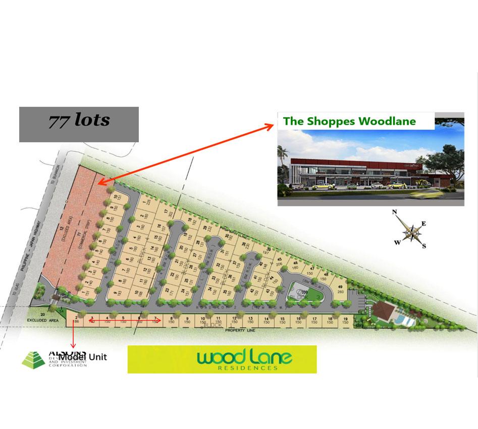 Alsons Properties - Woodlane Map